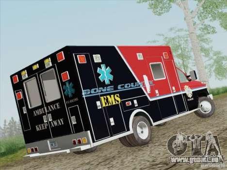 Ford E-350 AMR. Bone County Ambulance für GTA San Andreas rechten Ansicht