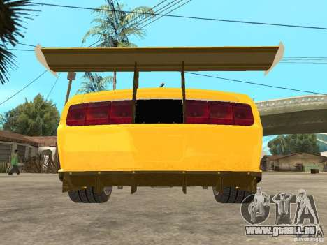 Ford Mustang GT-R pour GTA San Andreas vue arrière