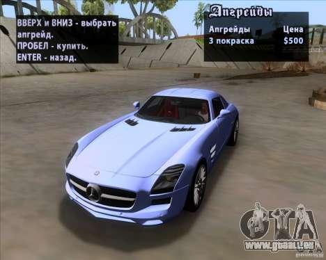 Mercedes-Benz SLS AMG V12 TT Black Revel pour GTA San Andreas vue de dessus
