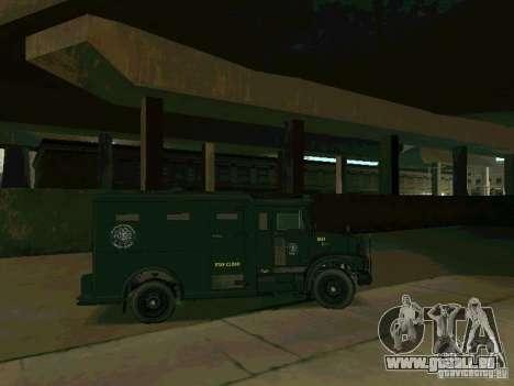 Stokade SAPD SWAT Van für GTA San Andreas Rückansicht