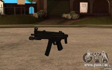 Nouveau MP5 avec lampe de poche pour GTA San Andreas