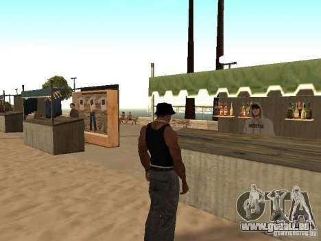 Marché sur la plage pour GTA San Andreas sixième écran