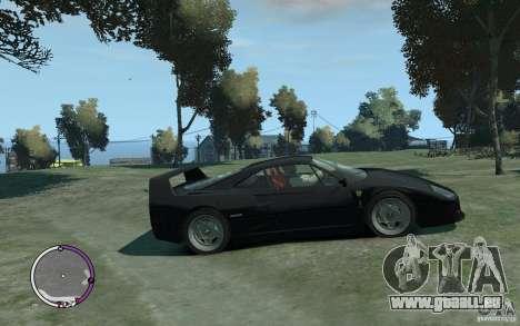Ferrari F40 v2.0 pour GTA 4 Vue arrière de la gauche