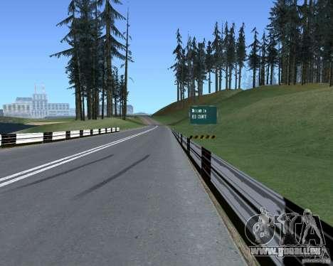 Route signes v1.1 pour GTA San Andreas troisième écran