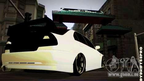 Mitsubishi Lancer Evolution 6 pour GTA San Andreas sur la vue arrière gauche