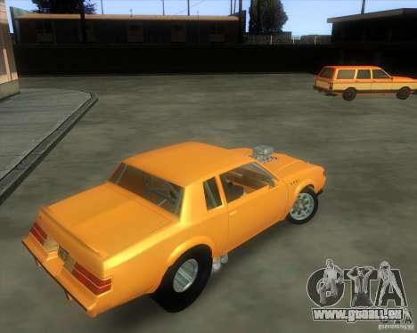 Buick GNX pro stock pour GTA San Andreas vue arrière