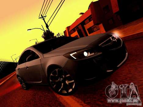 Opel Insignia für GTA San Andreas Innenansicht