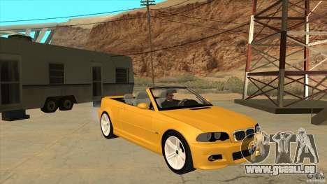 BMW E46 M3 Cabrio pour GTA San Andreas vue arrière
