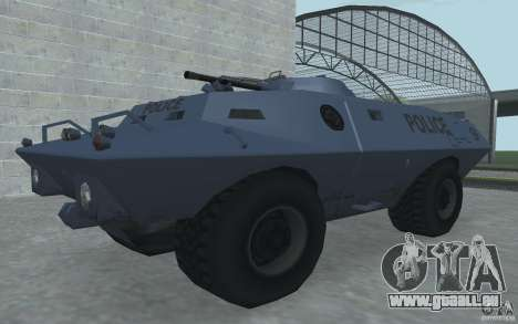 Swatvan avec mitrailleuse pour GTA San Andreas deuxième écran