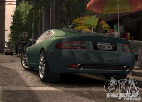 Aston Martin DB9 2008 v 1.0 pour GTA 4 Vue arrière