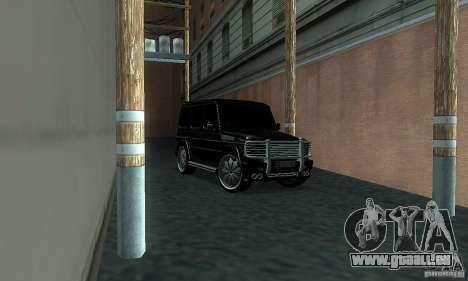 Mercedes Benz G500 ART FBI pour GTA San Andreas vue de droite