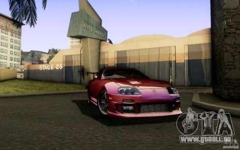Toyota Supra Top Secret für GTA San Andreas Rückansicht