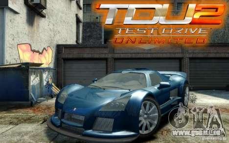 Gumpert Apollo Sport pour GTA 4 Vue arrière