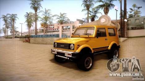 Suzuki Samurai pour GTA San Andreas laissé vue