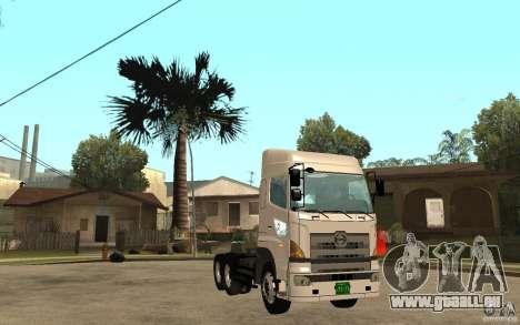 Hino 700 Series für GTA San Andreas Rückansicht