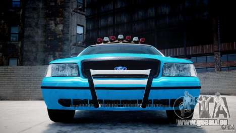 Ford Crown Victoria Classic Blue NYPD Scheme pour GTA 4 Salon