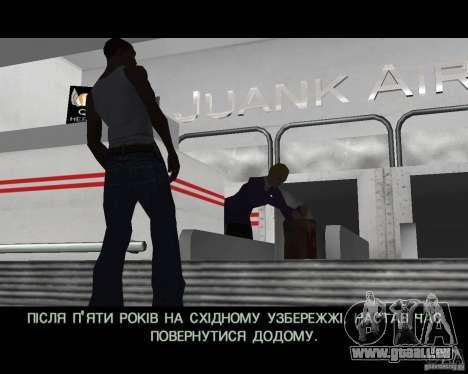 Ukraïnizator 2.0 pour GTA San Andreas quatrième écran