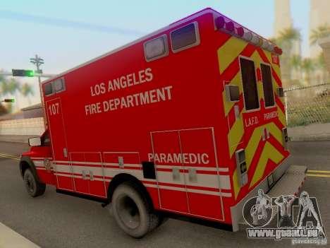Dodge Ram 1500 LAFD Paramedic für GTA San Andreas zurück linke Ansicht