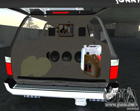 Toyota Surf v2.1 pour GTA San Andreas vue de dessous