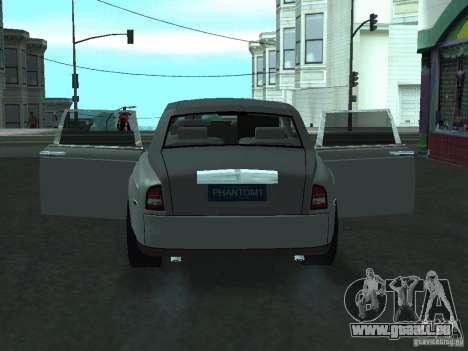 Rolls-Royce Phantom Limousine 2003 für GTA San Andreas Rückansicht