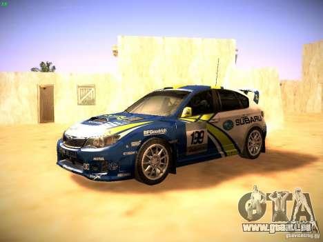 Subaru impreza Tarmac Rally pour GTA San Andreas laissé vue