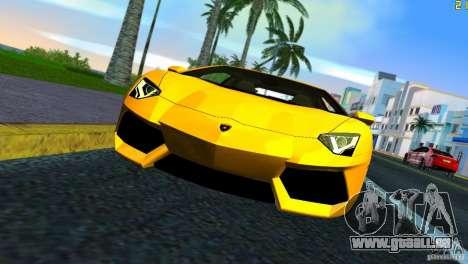 Lamborghini Aventador LP 700-4 pour GTA Vice City sur la vue arrière gauche