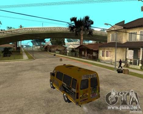 Gaz Gazelle 2705 Minibus pour GTA San Andreas laissé vue