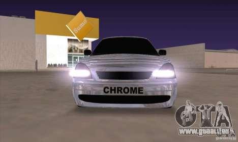 LADA 2170 Chrome pour GTA San Andreas laissé vue