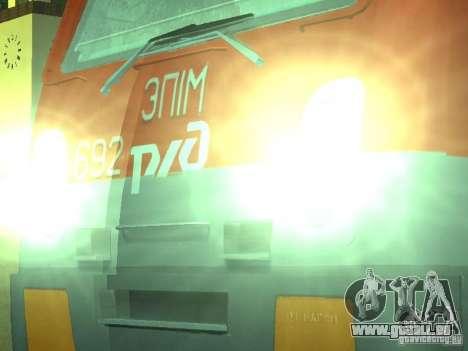 ÈP1M-392 OJSC « CHEMINS DE FER RUSSES » pour GTA San Andreas vue de droite
