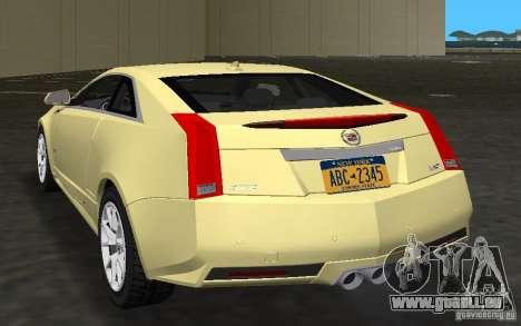 Cadillac CTS-V Coupe für GTA Vice City rechten Ansicht