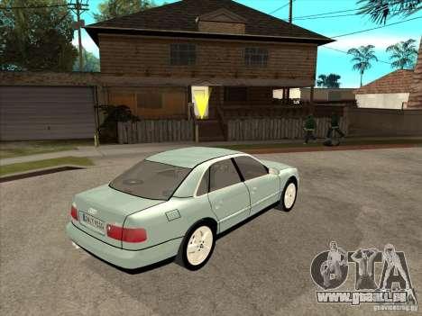 Audi A8 Long 6.0 W12 2002 pour GTA San Andreas vue arrière