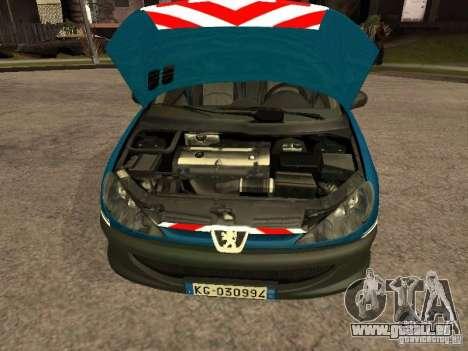 Peugeot 206 Police pour GTA San Andreas vue de droite