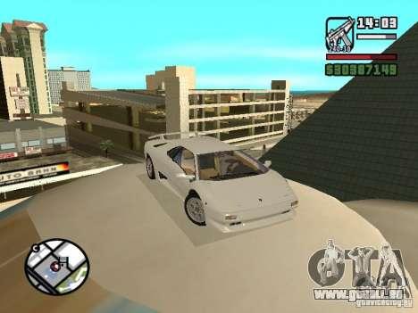 Lamborghini Diablo VT 1995 V2.0 pour GTA San Andreas vue arrière