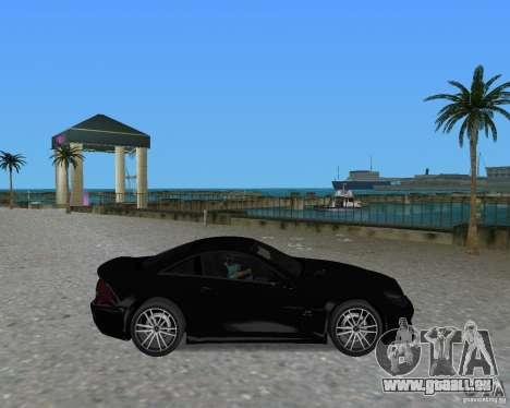 Mercedess Benz SL 65 AMG Black Series pour une vue GTA Vice City de la droite