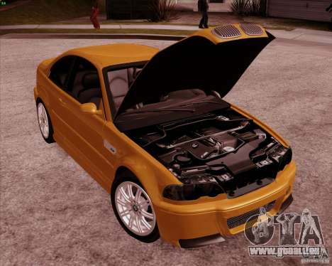 BMW M3 E46 stock pour GTA San Andreas vue de dessus