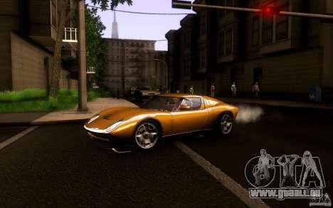 Lamborghini Miura Concept für GTA San Andreas zurück linke Ansicht