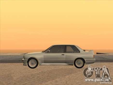 BMW M3 E30 1991 für GTA San Andreas Rückansicht