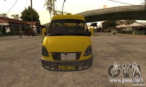 Minibus de Novossibirsk Gazelle 32213 pour GTA San Andreas laissé vue