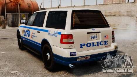 Police Landstalker ELS pour GTA 4 Vue arrière de la gauche