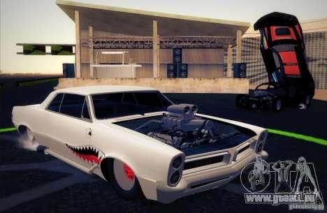 Pontiac GTO Drag Shark für GTA San Andreas Innenansicht