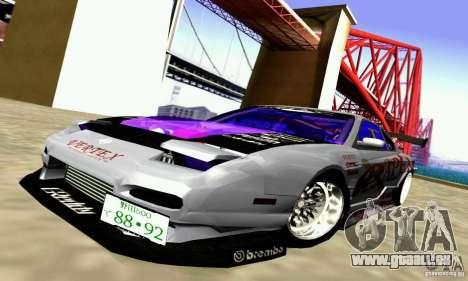 Nissan 150SX Drift pour GTA San Andreas vue intérieure