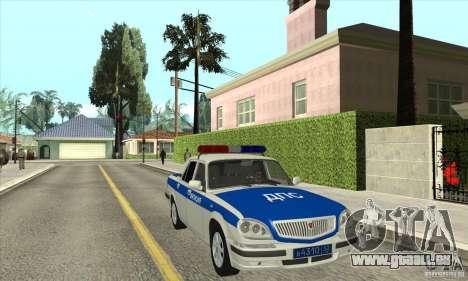 GAZ 31105 Volga DPS pour GTA San Andreas vue arrière