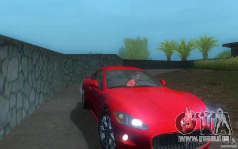 Maserati Gran Turismo S 2011 für GTA San Andreas zurück linke Ansicht