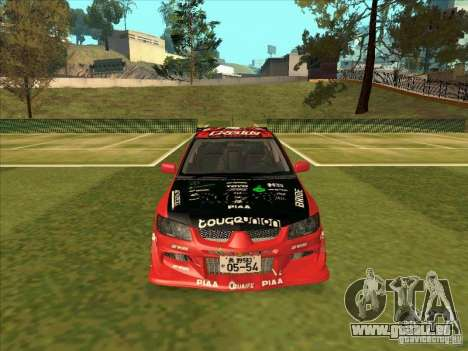 Mitsubishi Evo 9 Touge Union pour GTA San Andreas vue arrière