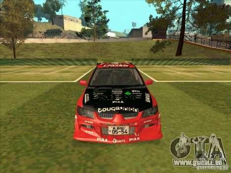 Mitsubishi Evo 9 Touge Union für GTA San Andreas Rückansicht