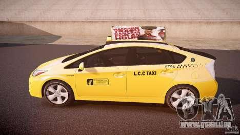 Toyota Prius LCC Taxi 2011 pour GTA 4 est une gauche