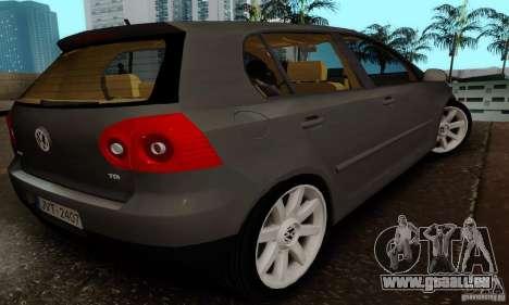 Volkswagen Golf 5 TDI für GTA San Andreas linke Ansicht