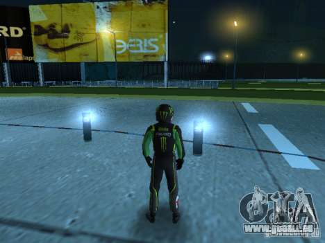 Falken Monster Energy PED für GTA San Andreas zweiten Screenshot