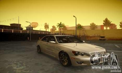 Lexus IS 300 pour GTA San Andreas laissé vue