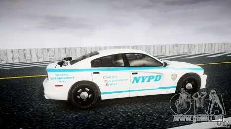 Dodge Charger NYPD 2012 [ELS] pour GTA 4 est une vue de l'intérieur